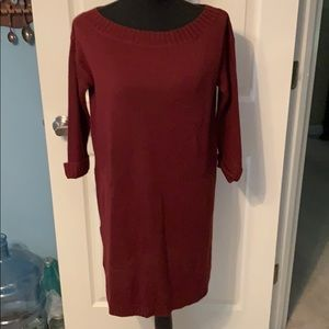 Adorable maroon sweater dress! NWOT